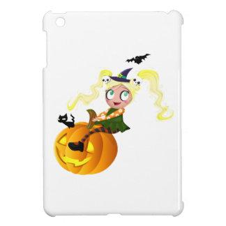 Bruja linda en una calabaza iPad mini funda