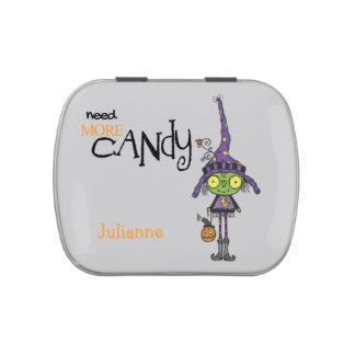 Bruja linda Halloween personalizado Frascos De Dulces