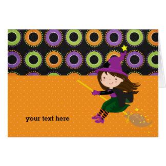Bruja linda tarjeta de felicitación