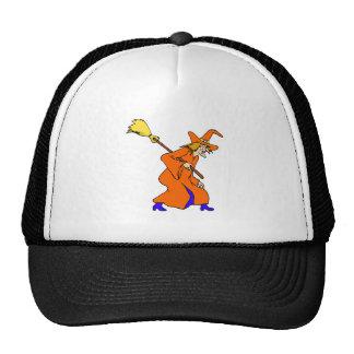 Bruja mala con la escoba gorra
