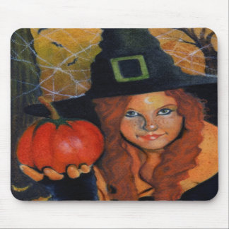 Bruja Mousepad de Halloween Alfombrilla De Ratón