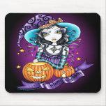 "Bruja Mousepad de la calabaza de ""Lisa"" Halloween Tapete De Raton"