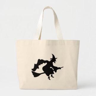 Bruja negra bolsas lienzo