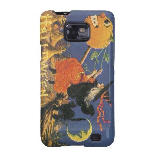 Bruja pasada de moda de Halloween Galaxy S2 Carcasas
