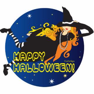 bruja pelirroja de Halloween Escultura Fotográfica