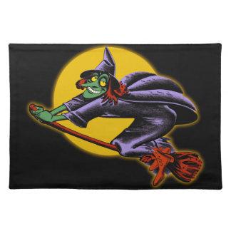 Bruja Placemat de Halloween del vintage Mantel Individual