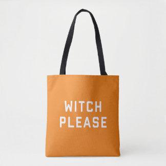 Bruja por favor Halloween Bolsa De Tela