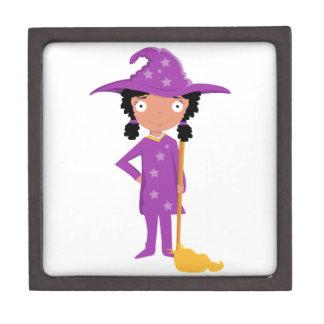 Bruja púrpura linda caja de regalo de calidad