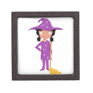 Bruja púrpura linda cajas de regalo de calidad