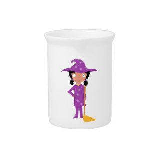 Bruja púrpura linda jarron