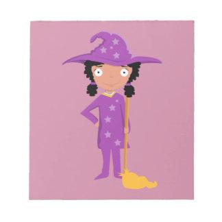 Bruja púrpura linda libretas para notas
