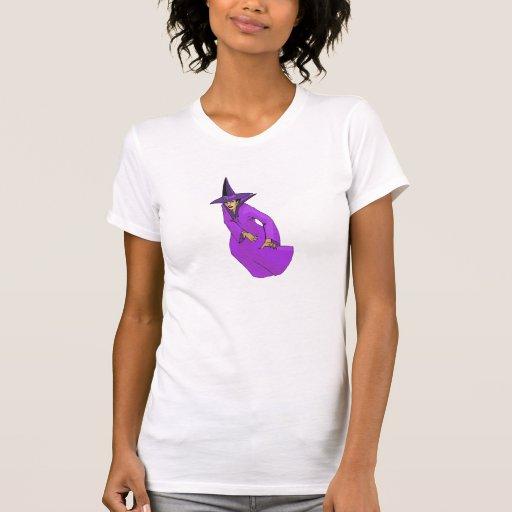 Bruja púrpura malvada seria camiseta