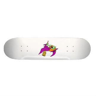 Bruja que cacarea en la escoba patinetas personalizadas