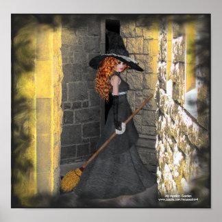 Bruja Redheaded en el poster/la impresión del vest Póster