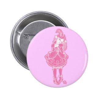 Bruja rosada pin redondo 5 cm
