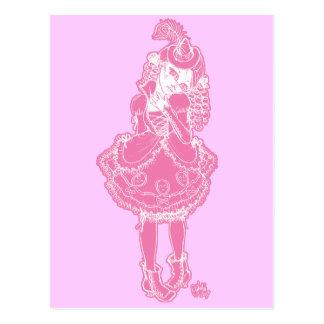 Bruja rosada tarjeta postal