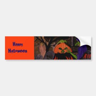 Bruja traviesa de Halloween Pegatina Para Auto