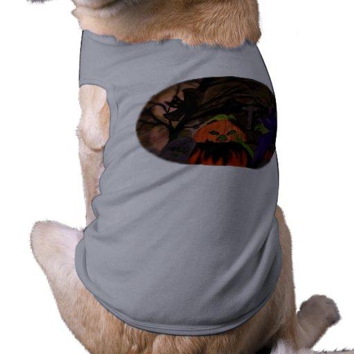 Bruja traviesa de Halloween Camisa De Perro