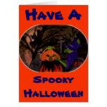 Bruja traviesa de Halloween Felicitaciones