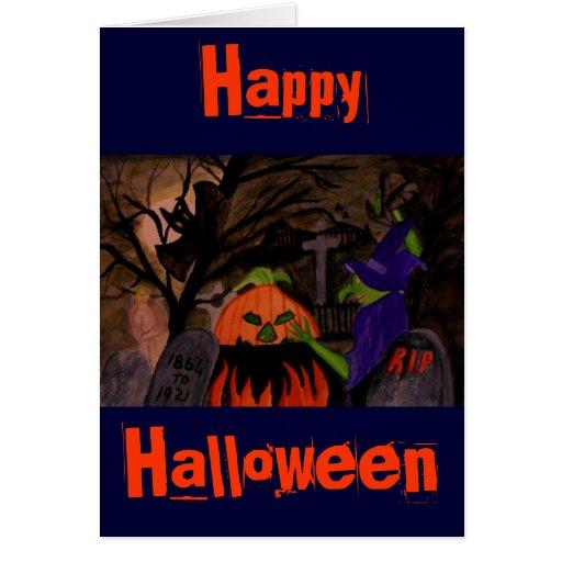 Bruja traviesa de Halloween Tarjeta De Felicitación