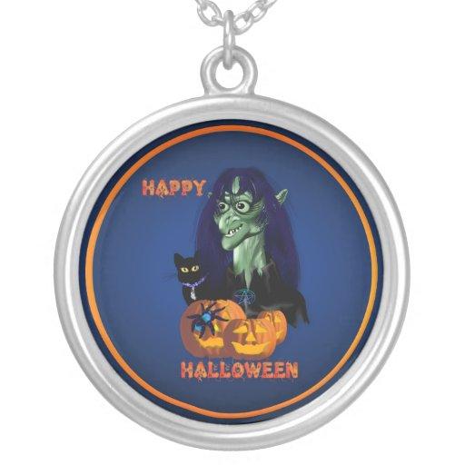 Bruja verde - collar del feliz Halloween