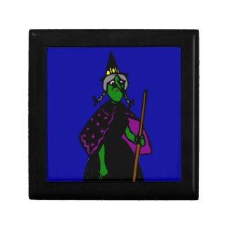 Bruja verde triste de Halloween Cajas De Regalo