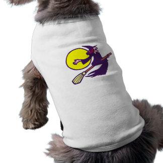 bruja voladora flying witch víspera de todos los s camiseta de mascota