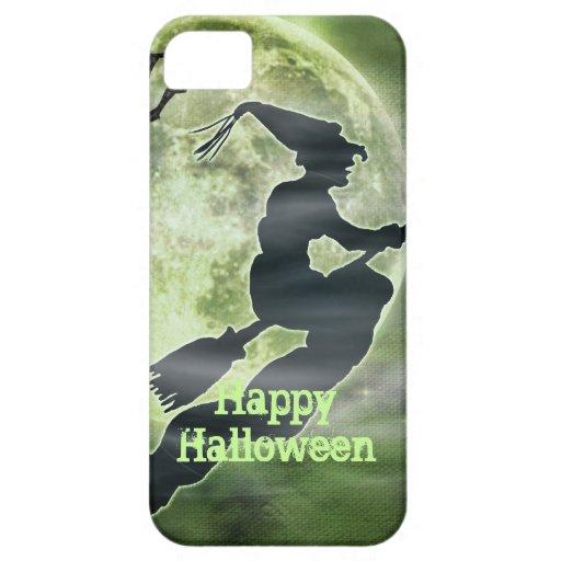 Bruja y araña de Halloween Funda Para iPhone 5 Barely There