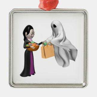 Bruja y fantasma ornamentos para reyes magos