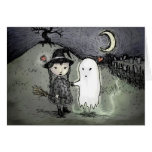 Bruja y fantasma en amor felicitación