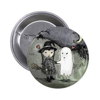 Bruja y fantasma en amor pin