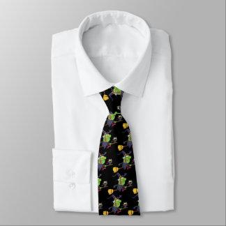 bruja y gato corbata