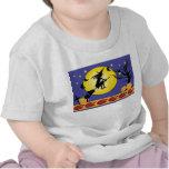 bruja y luna camiseta