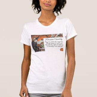 Bruja y poema - camiseta de Halloween