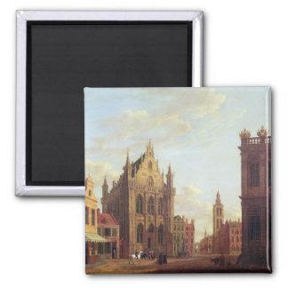 Brujas, 1824 (aceite en el panel) imán cuadrado