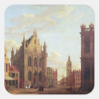 Brujas, 1824 (aceite en el panel) calcomanías cuadradass personalizadas