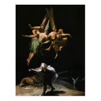 Brujas de Francisco Goya- en el aire Tarjetas Postales