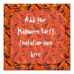 Brujas de las invitaciones del fiesta de Halloween Invitación 13,3 Cm X 13,3cm