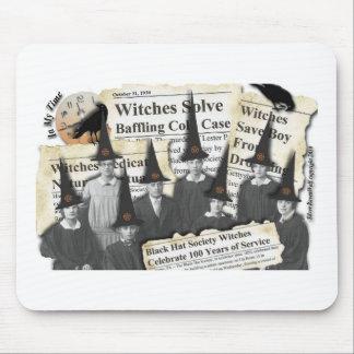 ¡Brujas en las noticias! Cojín de ratón Tapetes De Ratón