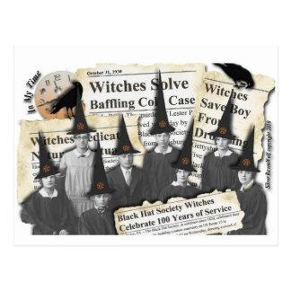 ¡Brujas en las noticias! Postal