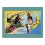 Brujas, Goblins y hombre en la luna Halloween