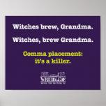 Brujas, Grandma. del brew Poster