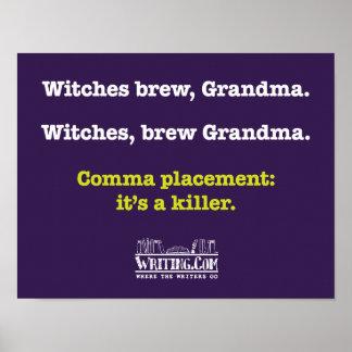 Brujas, Grandma. del brew Póster