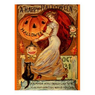 Brujas, Halloween, magia, fantasmagórico, linda Tarjeta Postal