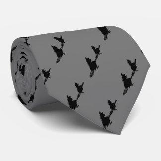brujas negras en la diversión fantasmagórica corbatas personalizadas