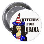 Brujas para el botón de Halloween de la diversión  Pin