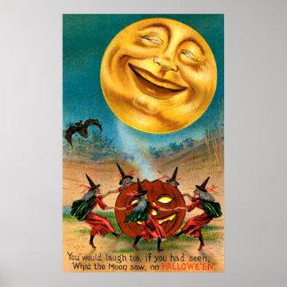 Brujas que bailan debajo de la luna poster