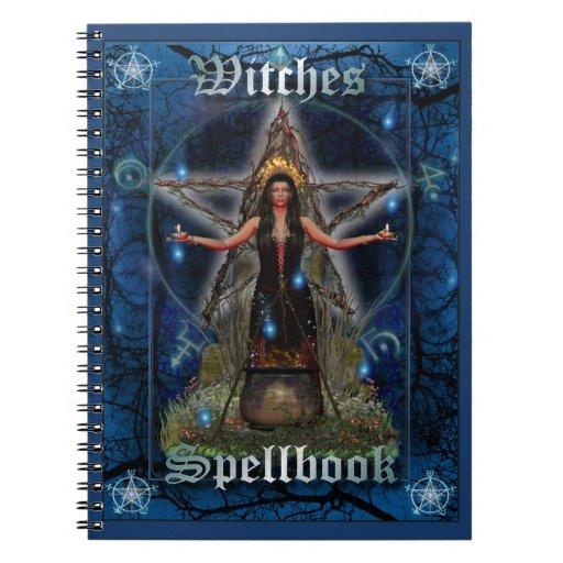 Brujas Spellbook - elemento del agua (cubierta azu Libros De Apuntes