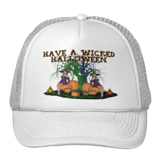 Brujas traviesas Halloween Gorros Bordados