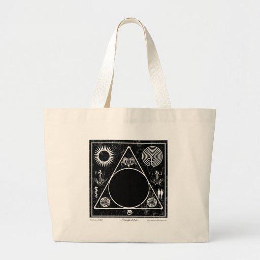 Brujería: Triángulo del arte; Calabozo Bolsa Tela Grande